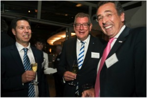 Dr.GyulaMeleghy, CEO, Meleghy Automotive (left) Arndt Günter Kirchhoff, Chairman of the Board, KIRCHHOFF Automotive (middle) and Helmut Kluger, Managing Director, Automobilwoche