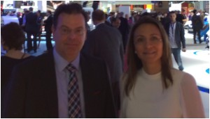 Wolfgang Doell, President and Managing Director of LIASE, and Vanessa Moriel, MD Asia for LIASE at the Mondial De L'Automobile.