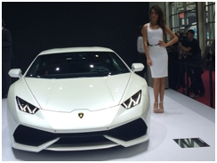 Lamborghini presented their first ever hybrid car at the Mondial De L'Automobile 2014 In Paris. The Asterion was presented as a concept car, with the company downplaying the possibility of a production version.