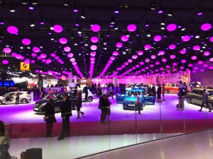 European brands were very well represented in Paris and several of them presented new cars to the press and public. Here shown is French carmaker Renault's stand.