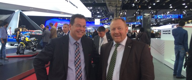 Wolfgang Doell, LIASE Group President, and Harald Bohn, Senior VP Automotive  - Tom Tom
