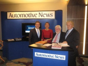 rom left to right: LIASE Group MD Americas and Board Member John Bukowicz; LIASE Group Asia MD and Board Member Vanessa Moriel; Automotive News Editor-in-Chief Keith Crain; and, and LIASE Non-Executive Board Member Vic Doolan. LIASE Group was proud to sponsor this year's Automotive News World Congress.