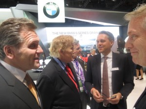 LIASE Group MD Americas and Board Member John Bukowicz and LIASE Non-Executive Board Member and Former President of BMW North America Vic Doolan with Senior Executives from BMW.