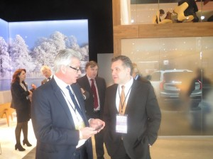 LIASE Group MD Americas and Board Member John Bukowicz (right) talks with Senior Executives from Volvo.