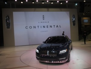 The New Lincoln Continental Concept Car.