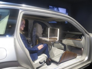 The XC90 can remove the front seat to provide back seat passengers with plenty of leg room.