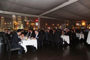 There were a total of 65 guests for the dinner, which took place at the House Roosevelt of the Bund.