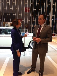 Lincoln China President Robert Parker talking with LIASE Asia MD Vanessa Moriel.