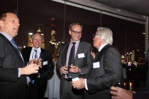 The Dinner was an opportunity for executives to discuss business in an informal setting. Left to right: Lumileds, Sr. Director R&D Automotive, Dr. Peter Stolk, Triton Private Equity, Industrial Adviser, Anders Jonsson, Lean Nova, Vice President, Jan Bengtsson; and, RAI Industry Platform, Chairman of the Board, Eddy van der Vorst.