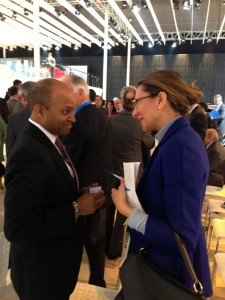 Ford Motors Group Vice President and Chief Technical Officer Raj Nair discussing with LIASE Asia MD Vanessa Moriel.