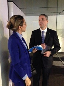 Ford China Chairman & CEO John Lawler talking with LIASE Asia MD Vanessa Moriel.