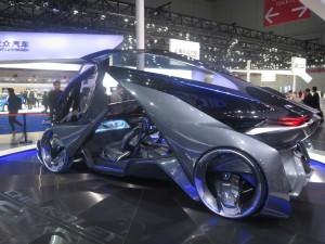 GM's Chinese division unveiled its vision of an electric autonomous vehicle, the Chevy FNR autonomous concept vehicle.
