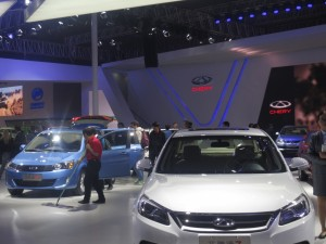 Chinese carmaker Chery unveiled the Alpha 5 concept car, which will eventually become the Chery Arrizo 5.