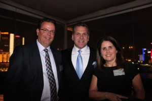 Left to right: LIASE Group, President, Wolfgang Doell; LIASE Group, Managing Director Americas, John Bukowicz; and PR Manager, Rita Tucunduva