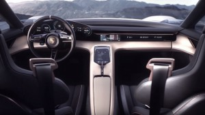 Interior cabin of the Concept Mission E. Porsche specifically aims to beat Tesla in charging, as it claims its battery system will be able to recharge 80-percent of its battery power in just 15 minutes, providing around 400 Kilometres of range.