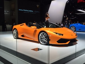 Lamborghini unveiled the Huracan LP 610-4 Spyder convertible in Frankfurt. The super sports car will boast a 602bhp 5.2-litre V10 engine once it goes on sale next spring.