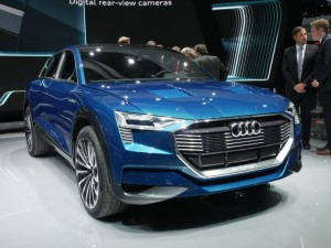Audi's all electric e-tron Quattro boast the same battery system as the Porsche E Mission Concept. The crossover SUV uses 3 electric motors, one for the front wheels and two for the back. This should give it the kind of performance drivers expect from the German luxury automaker.