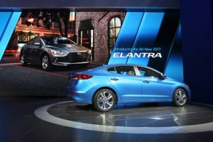 Hyundai unveiled the 6th generation Elantra at the show. The reworked model uses high-end steel to lower its weight, overhauled the suspension to improve performance and reduced noise in the cabin through various means.