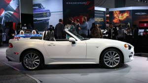 Fiat unveiled the new 124 Spider at the LA Auto Show. The flashy roadster is a bid to increase Fiat's profile in North America. Fiat actually collaborated with Mazda to design the car, meaning that the overall look of the car is very similar to the Mazda MX-5 Miata.