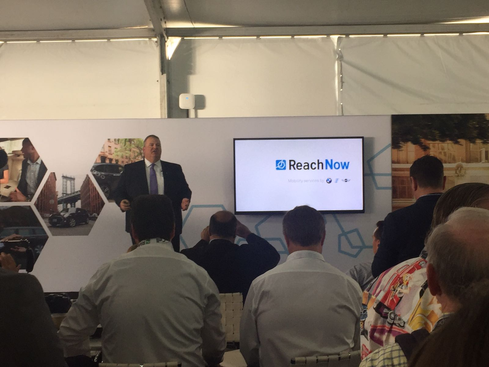 Steve Banfield CEO of BMW ReachNow, speaking at LA AutoMobility. BMW's alternative mobility platform announced its expansion into Brooklyn, NY and debute its solutions for residential buildings.  Brooklyn is ReachNow's first foothold into the American East Coast.