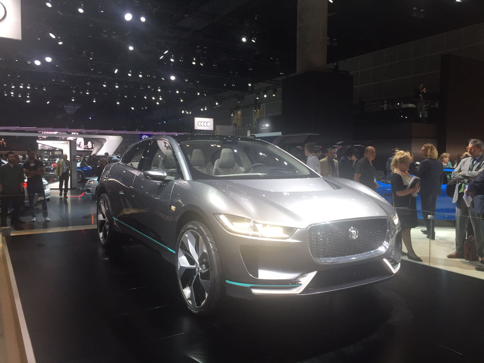 Another view on the Jaguar I-PACE Concept.