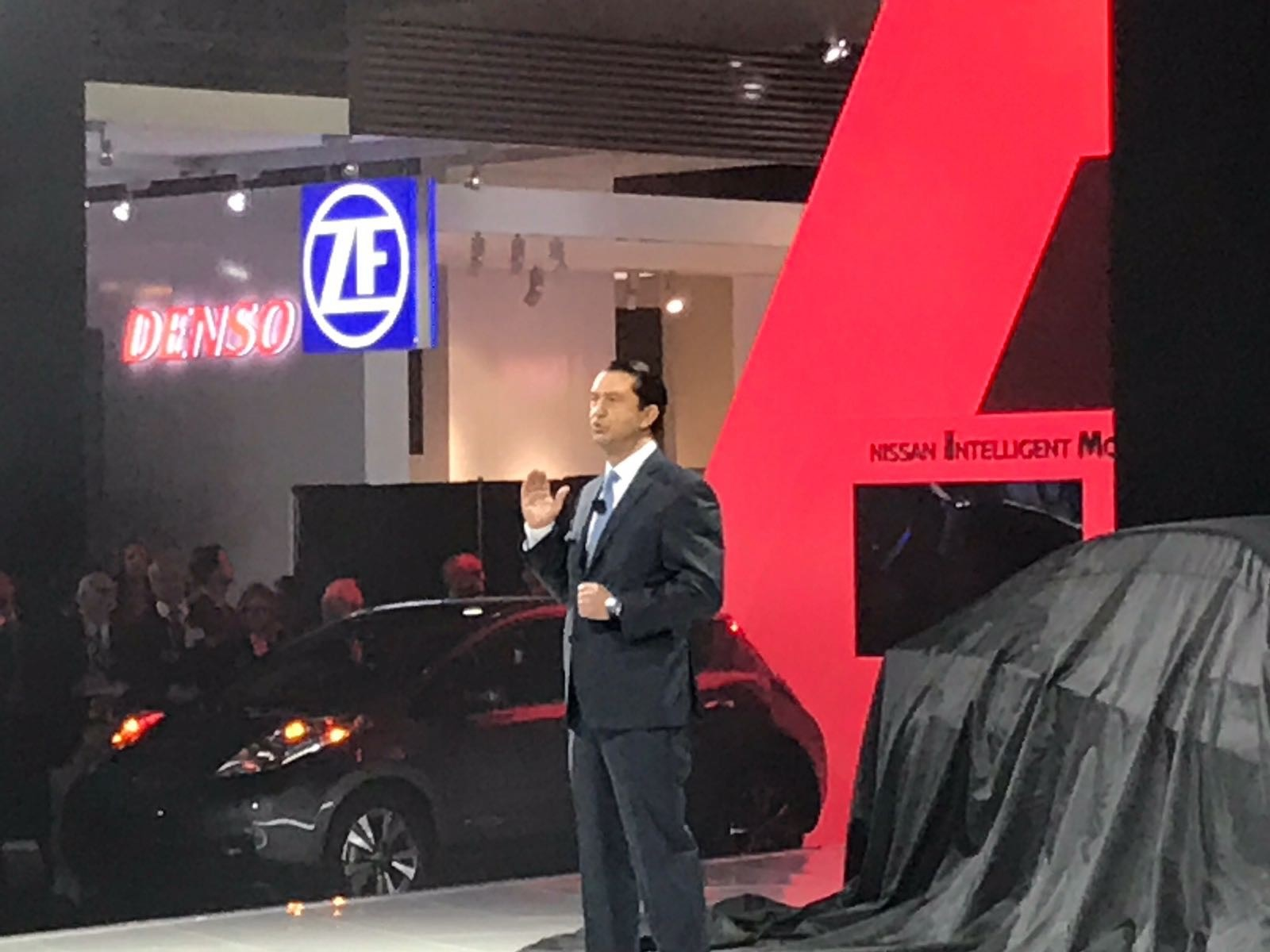 Jose Munoz, Chief Performance Officer at Nissan Presents at CES 2017 in Las Vegas.