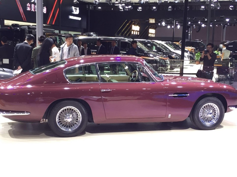 An Aston Martin Classic on display at the Shanghai Auto Show.