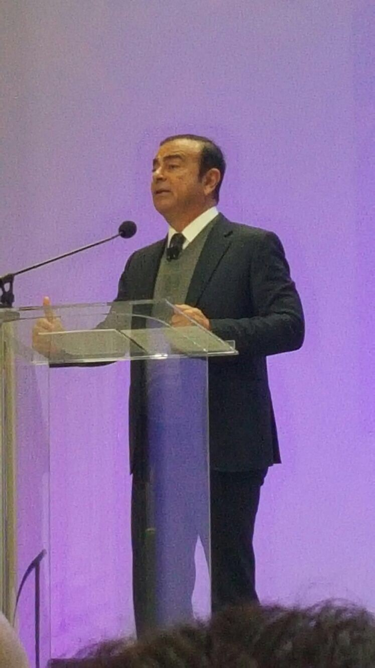 Carlos Ghosn, Chairman and CEO, Nissan Motor Co., talked about the future of autonomous driving and rapid technological change in the automotive industry during the the North American International Auto Show's Automobili-D event.