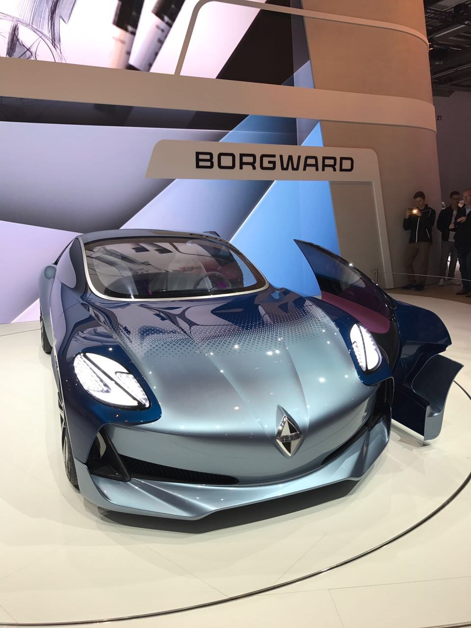 Sino-German luxury carmaker Borgward unveiled a sporty Isabella concept car.