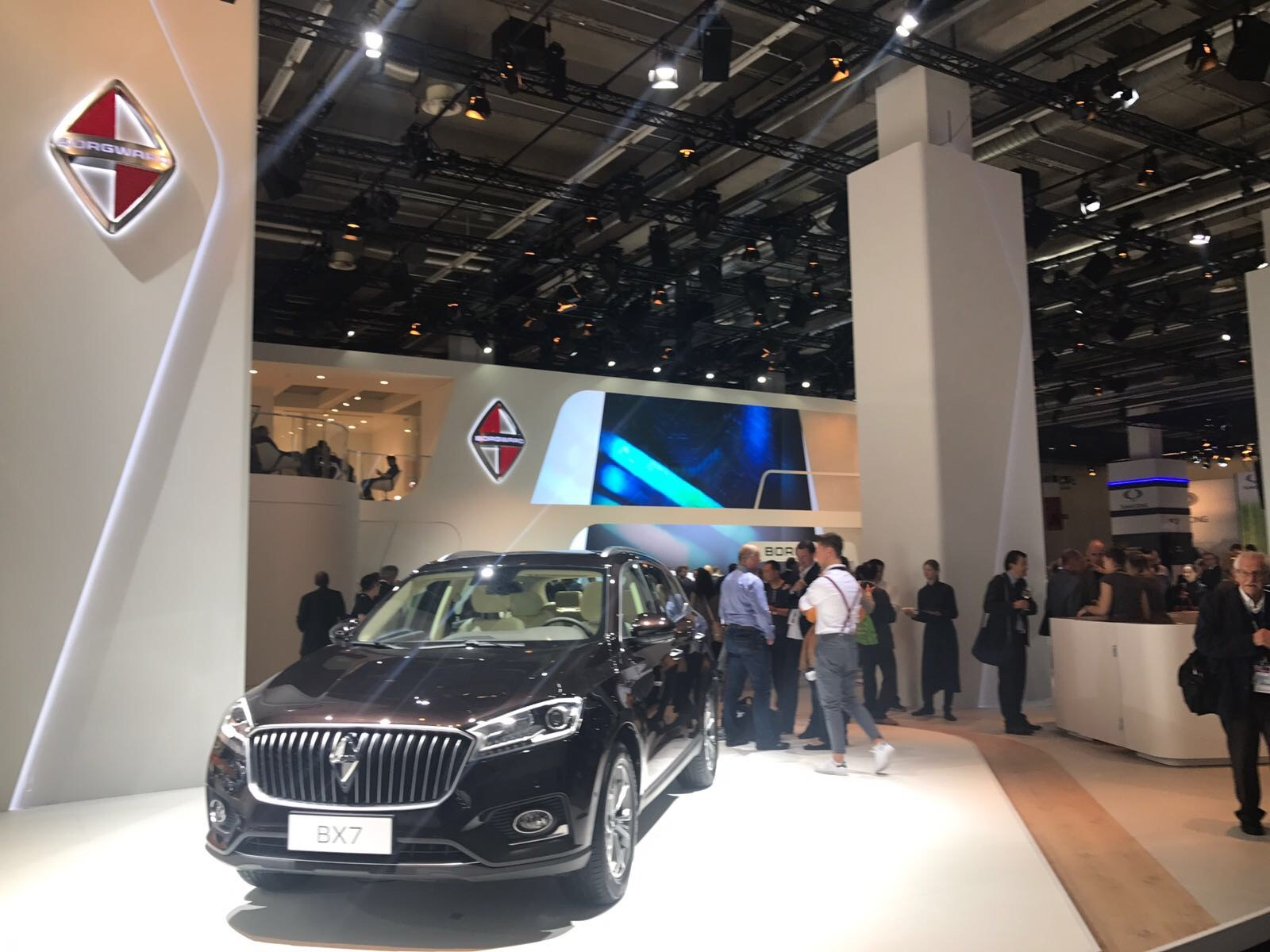 Borgward showed off the limited-edition BX7 SUV. The new luxury SUV will go on sale in Germany first before other models are launched across the continent.