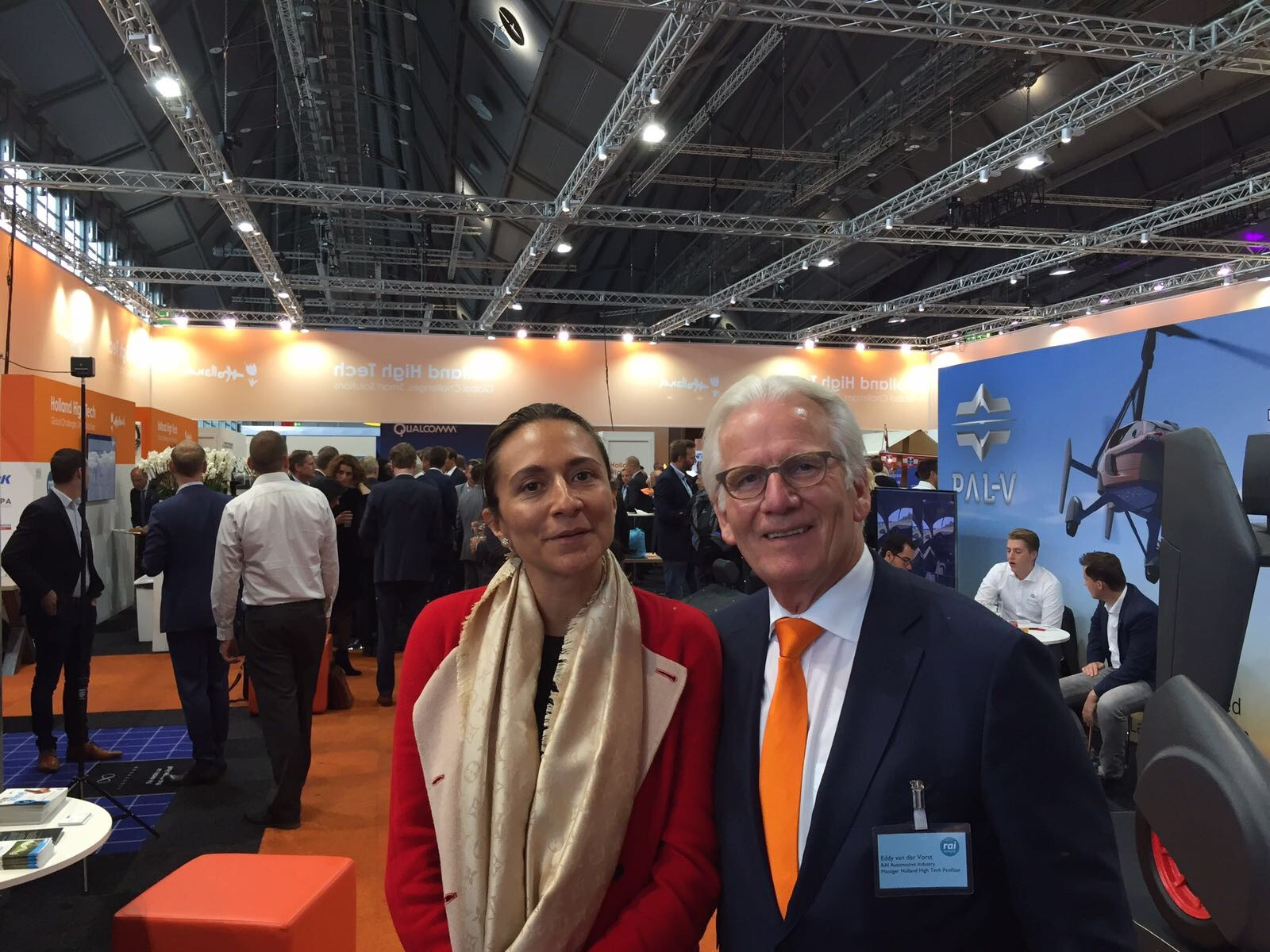 LIASE Group Managing Director Asia, Vanessa Moriel and Eddy van der Vorst at the Holland High-Tech Pavilion.
