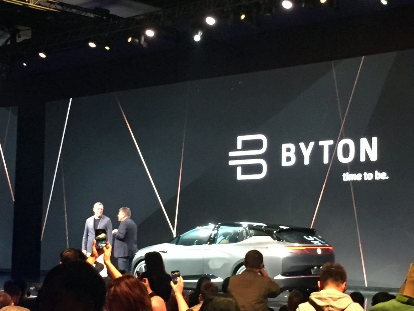 Carsten Breitfeld and Daniel Kirchert, Byton's co-founders present their concept SUV, which they believe will be the first ever truly smart car.