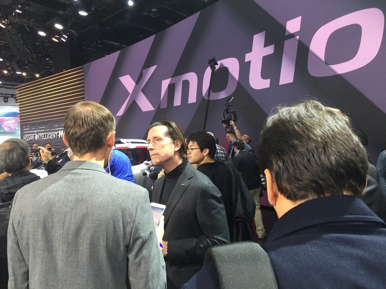 Nissan Chief Designer, Alfonso Albaisa at the Xmotion Nissan booth.
