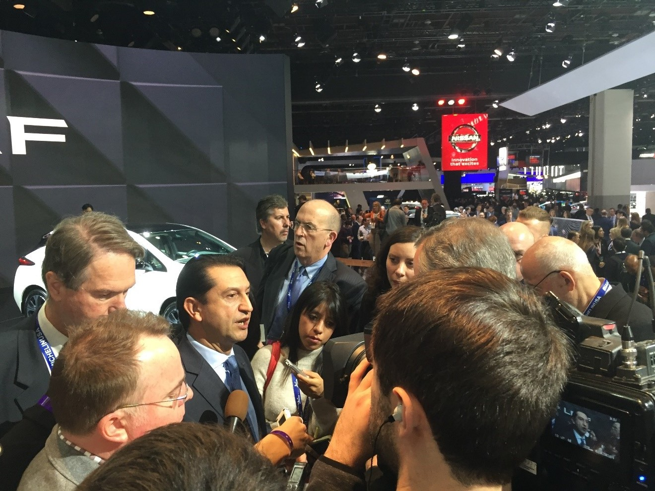 Jose Munoz at the Nissan Press Conference