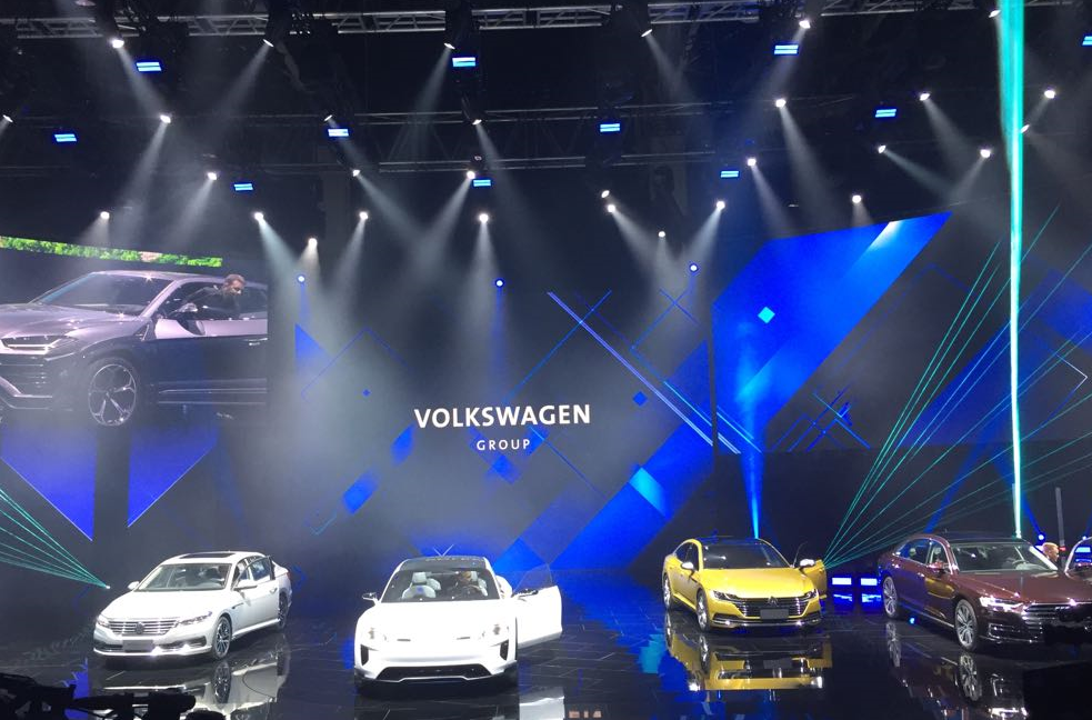 New Volkswagen models were showcased.