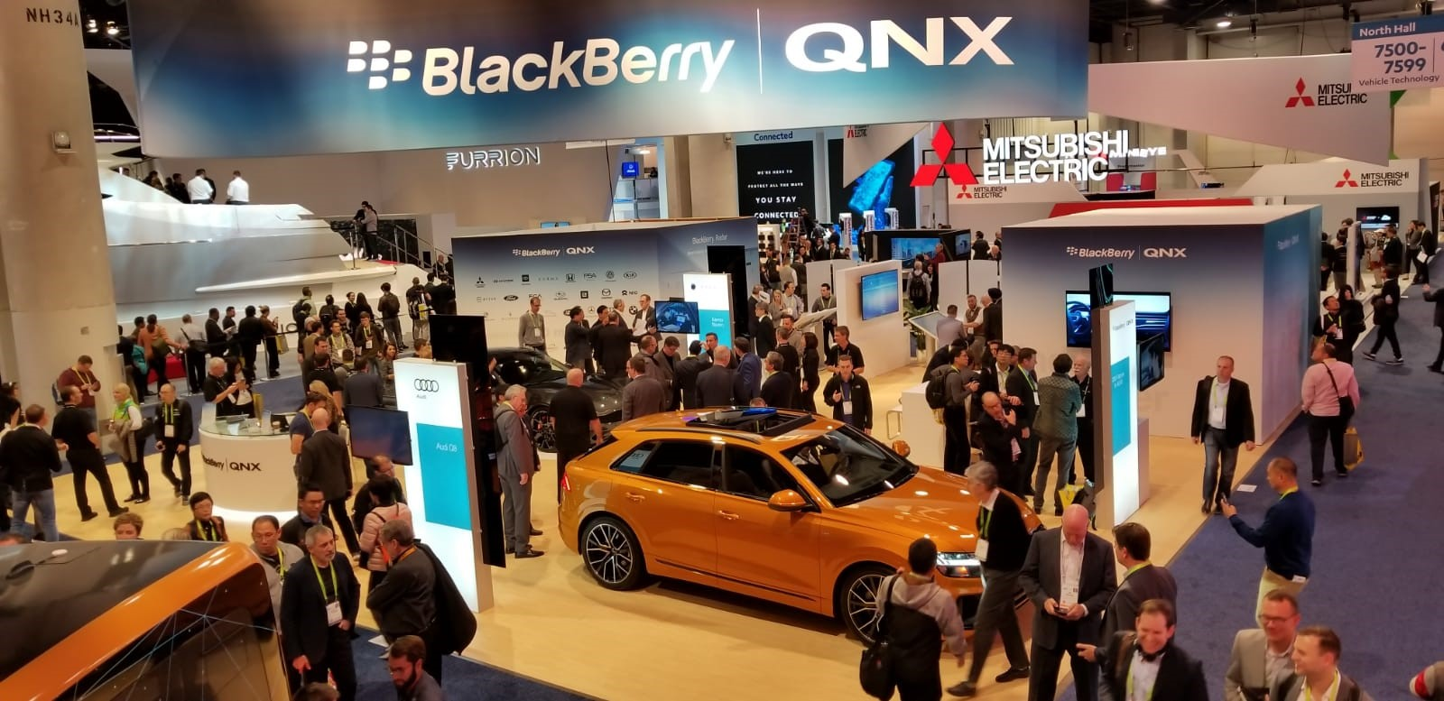 BlackBerry QNX highlighted its new QNX Platform for digital cockpits in two vehicles as CES 2019.