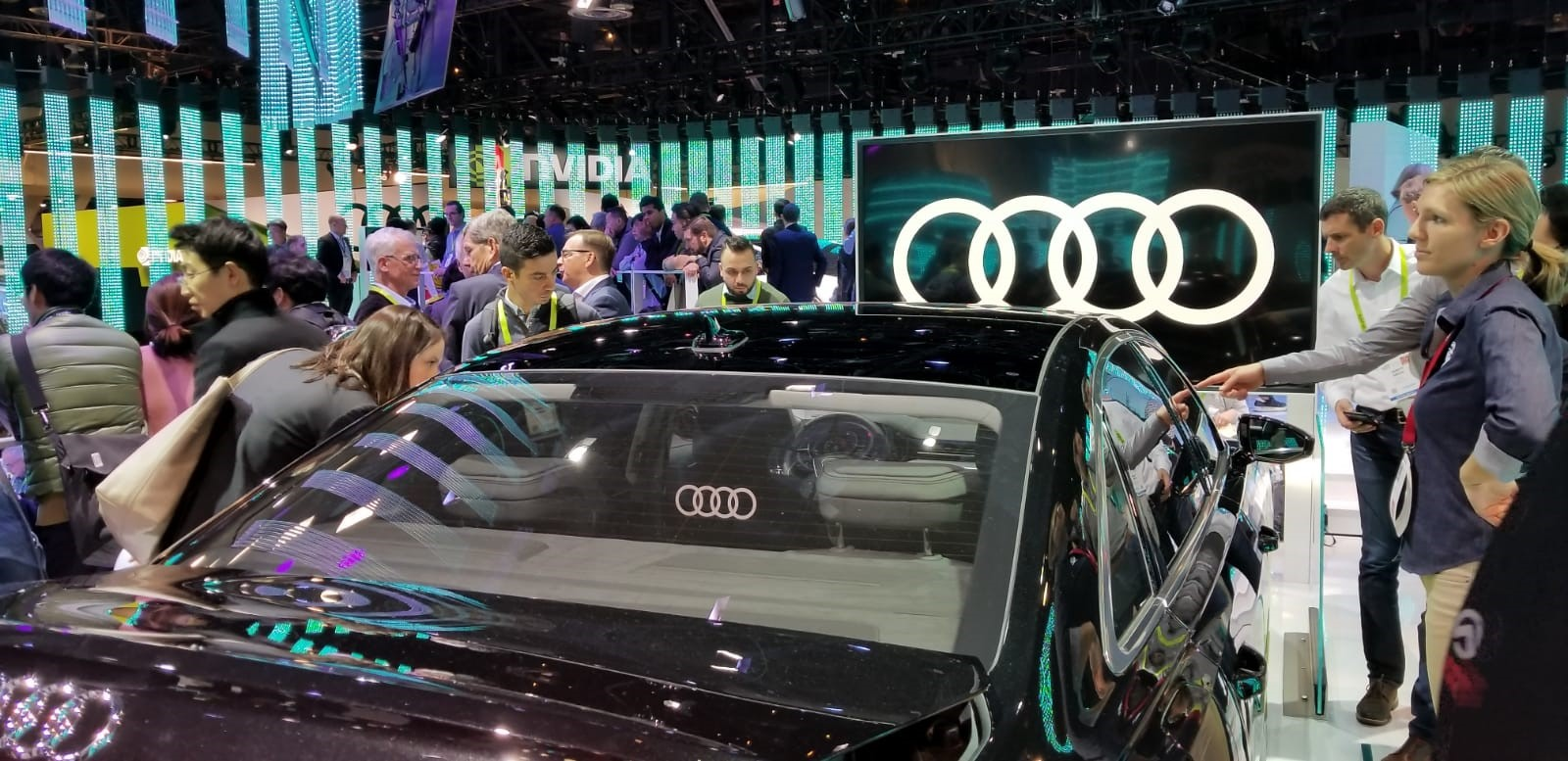 Audi's presentation at CES 2019 focused heavily on its revamped infotainment system.