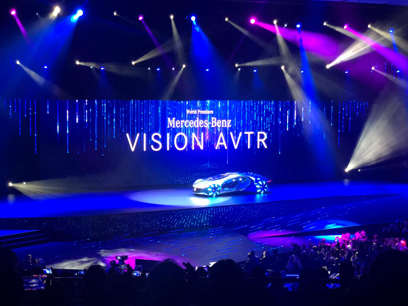 Mercedes-Benz introduced its concapt car, VISION AVTR at the show, capturing the eyeballs of all the show attendees