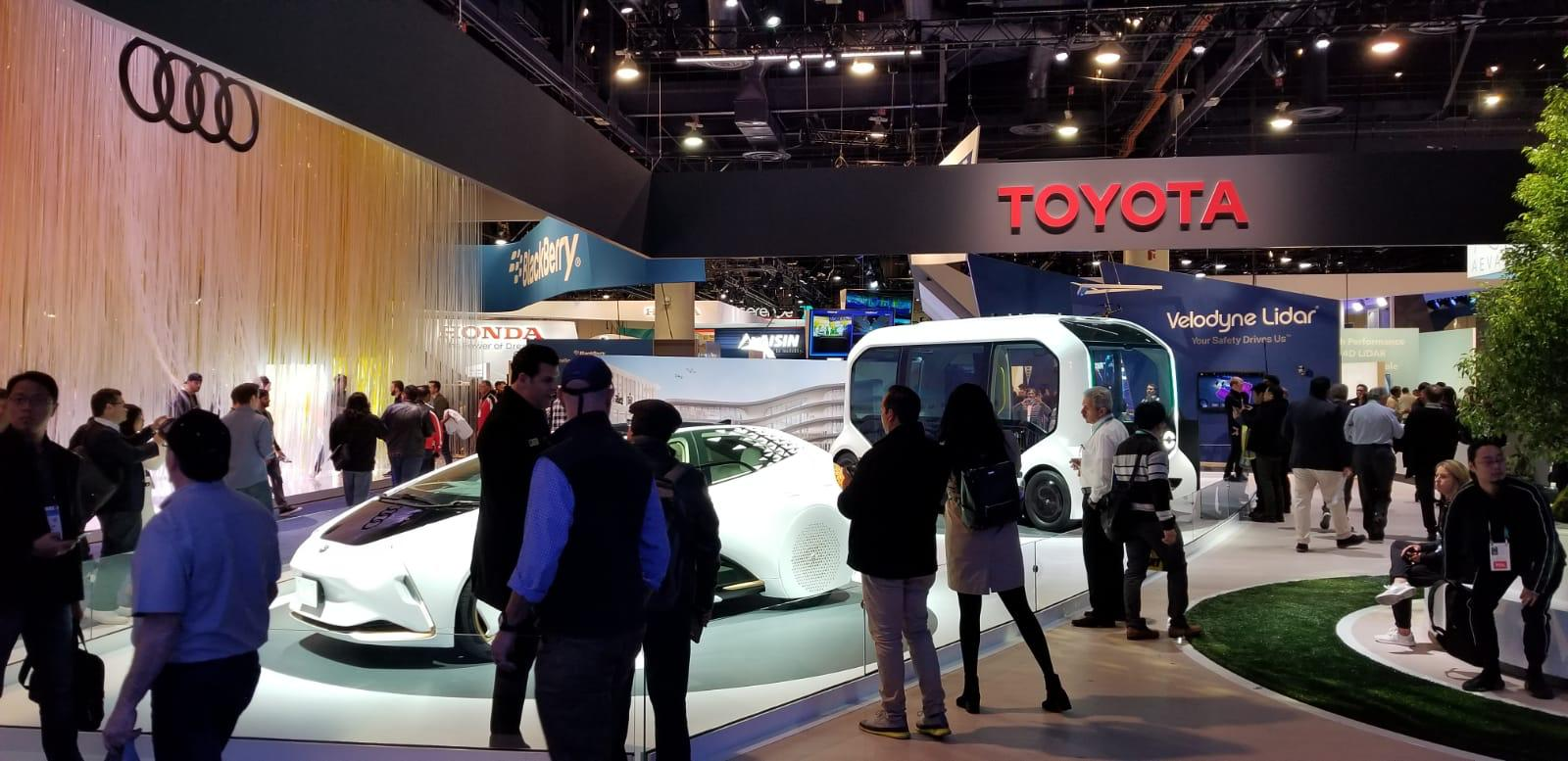 Leaders of the automotive industry, including Toyota and Audi, gathering at the show